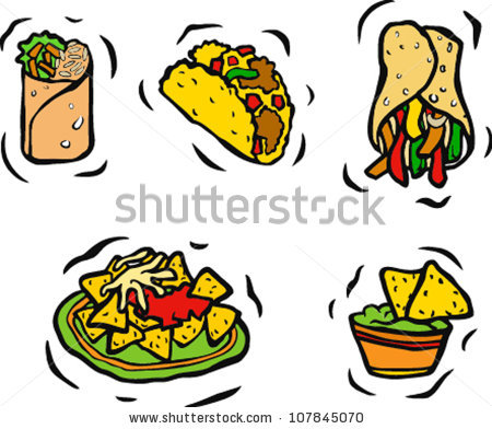 450x392 Clipart Mexican Food