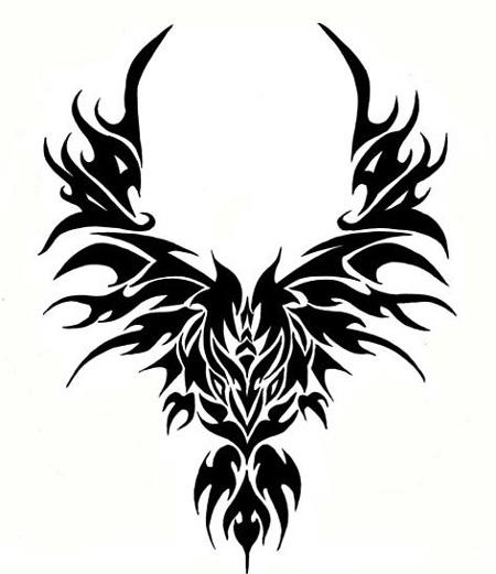 450x521 [ Tribal Eagle Head Tattoo ] Eagle Head Embroidery Designs