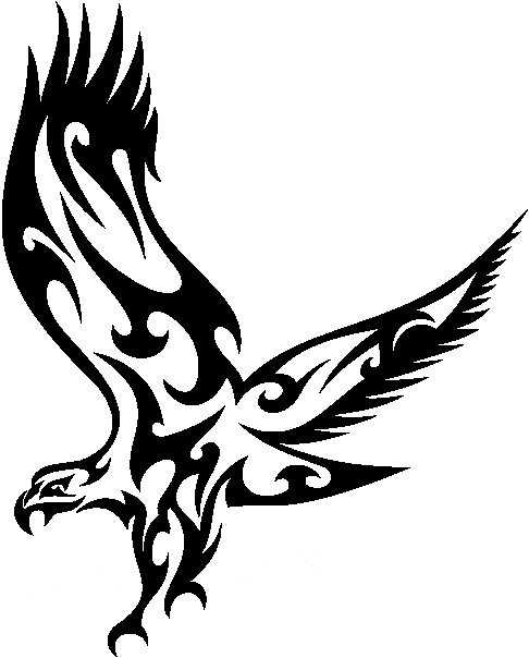 486x604 Tribal Eagle Stickers 03, Tribal Animals Decal, Tribal Animals