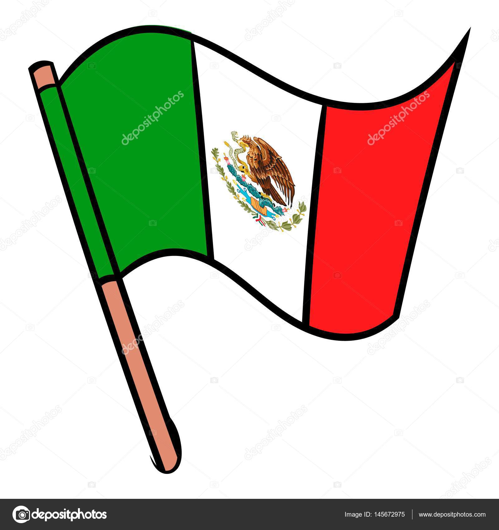1600x1700 Flag Of Mexico Icon Cartoon Stock Vector Juliarstudio