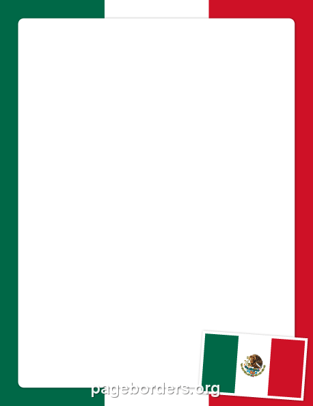 458x593 Mexican Flag Border Clip Art, Page Border, And Vector Graphics