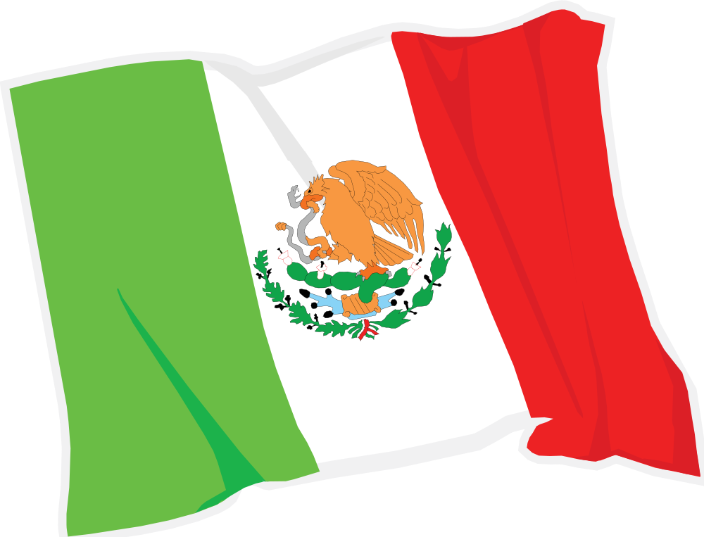 1000x763 Mexican Flag Waving Clipart Clipartfest