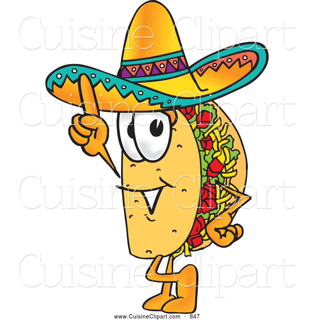 1024x1044 Cuisine Clipart Of A Smiling Taco Mascot Cartoon Character