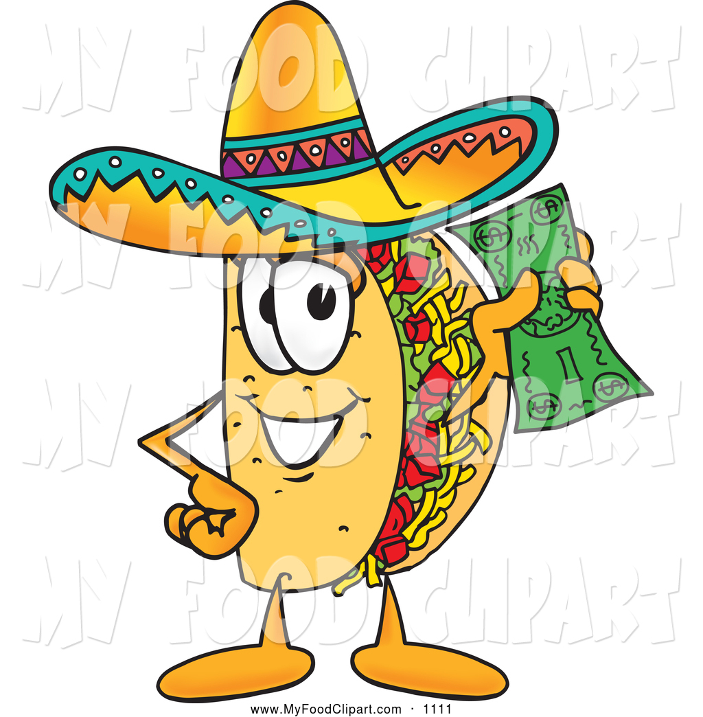 1024x1044 Food Cliprt Of Cute Taco Mascot Cartoon Character Holding