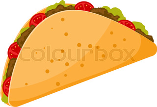 320x218 Mexican Food Delicious Taco Sketch Stock Vector Colourbox