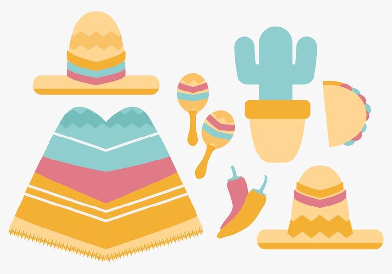 800x560 Vector Mexican Items