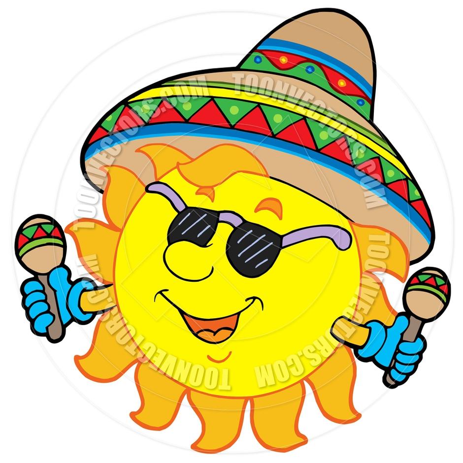 940x940 Cartoon Mexican Sun By Clairev Toon Vectors Eps