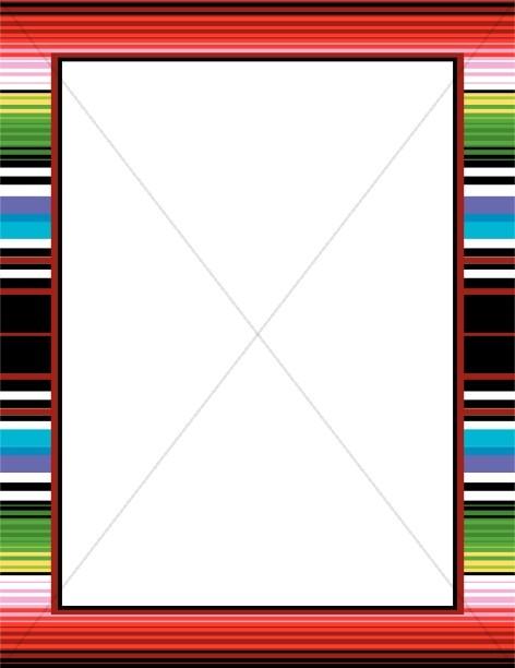 472x612 Mexican Blanket Border Winter Borders