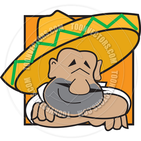 460x460 Cartoon Mexican Man Siesta Vector Illustration By Clip Art Guy