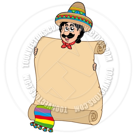 460x460 Cartoon Mexican Man With Scroll By Clairev Toon Vectors Eps