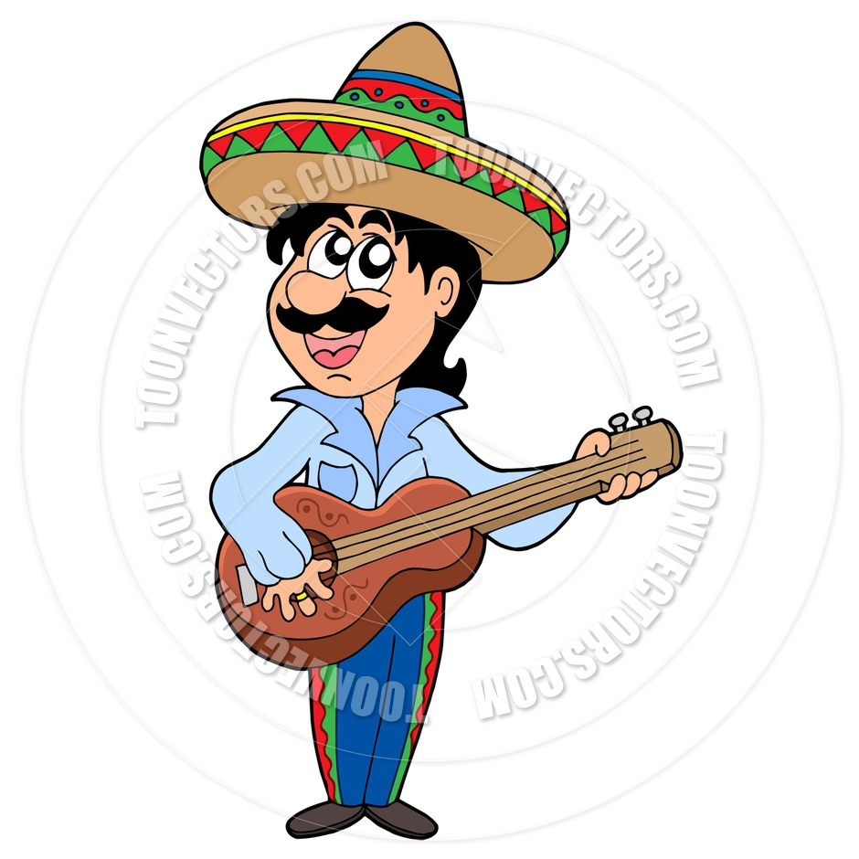 940x940 Cartoon Mexican Musician By Clairev Toon Vectors Eps
