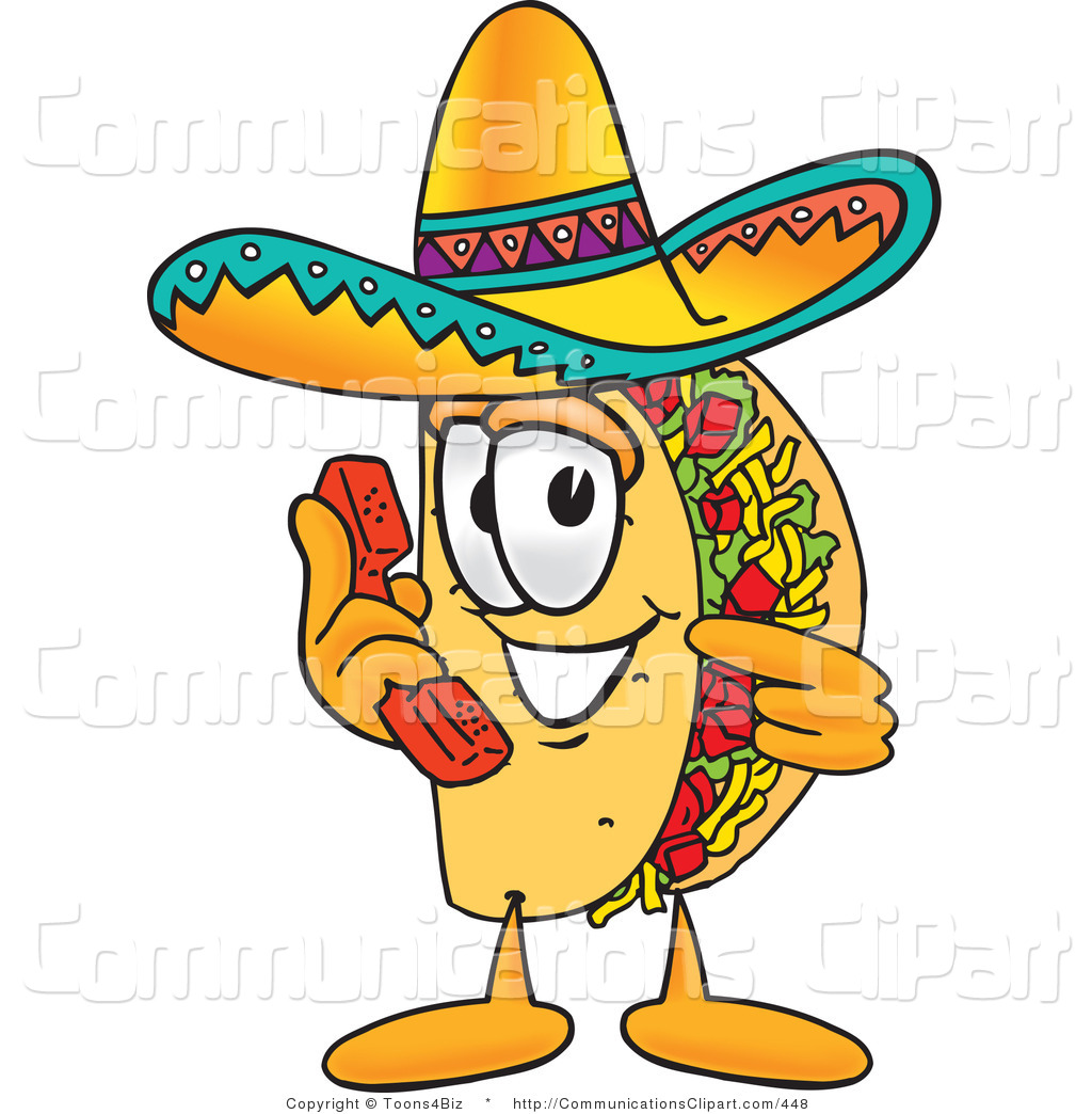 1024x1044 Communication Clipart Of A Mexican Taco Mascot Cartoon Character