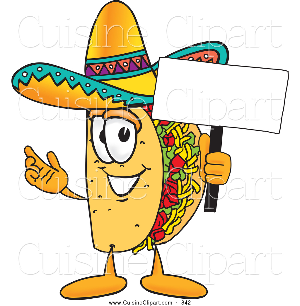 1024x1044 Cuisine Clipart Of A Smiling Taco Mascot Cartoon Character Holding