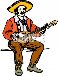 230x300 Mexican Man Playing Guitar