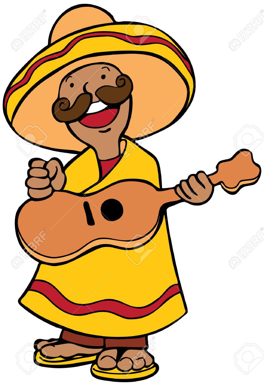 891x1300 Musician Clipart Mexican Man