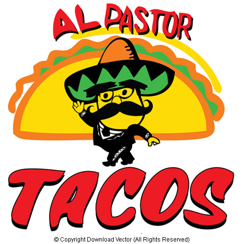 500x500 Mexican Restaurant Cartoon Vector Clipart Illustration 09879