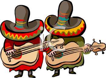 350x256 Royalty Free Mexican Clip Art, Entertainment Clipart