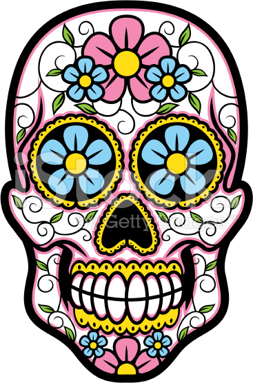 367x556 Vector Illustration Of Sugar Skull. Sugar Skulls, Vector Art