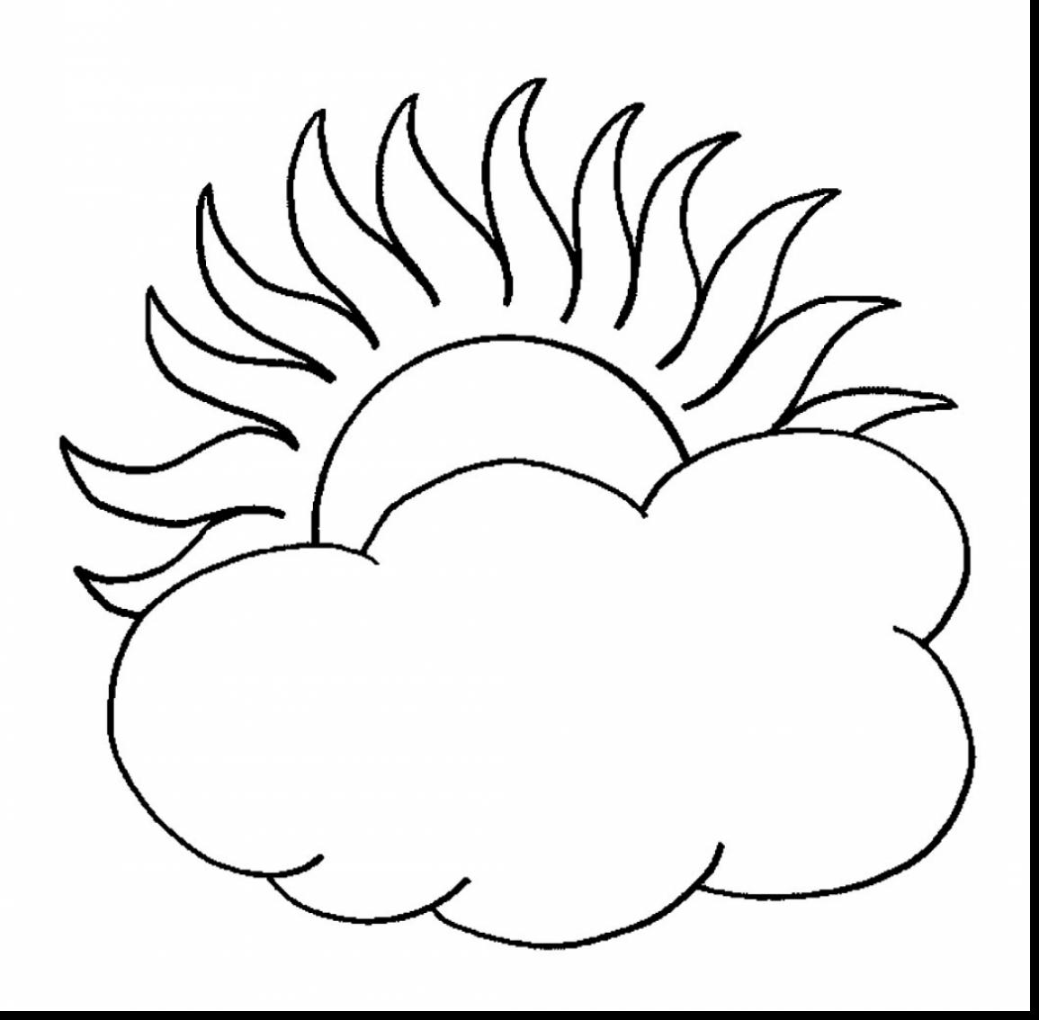 1155x1134 Brilliant Sun And Clouds Coloring Page With Sun Coloring Pages