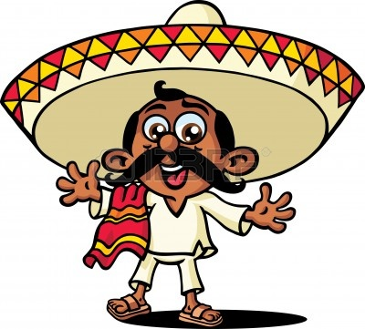 400x361 Mexican Cartoon Clipart