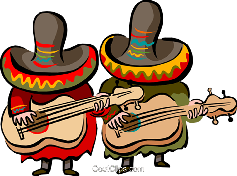 480x356 Mexican Music Intruments Clipart