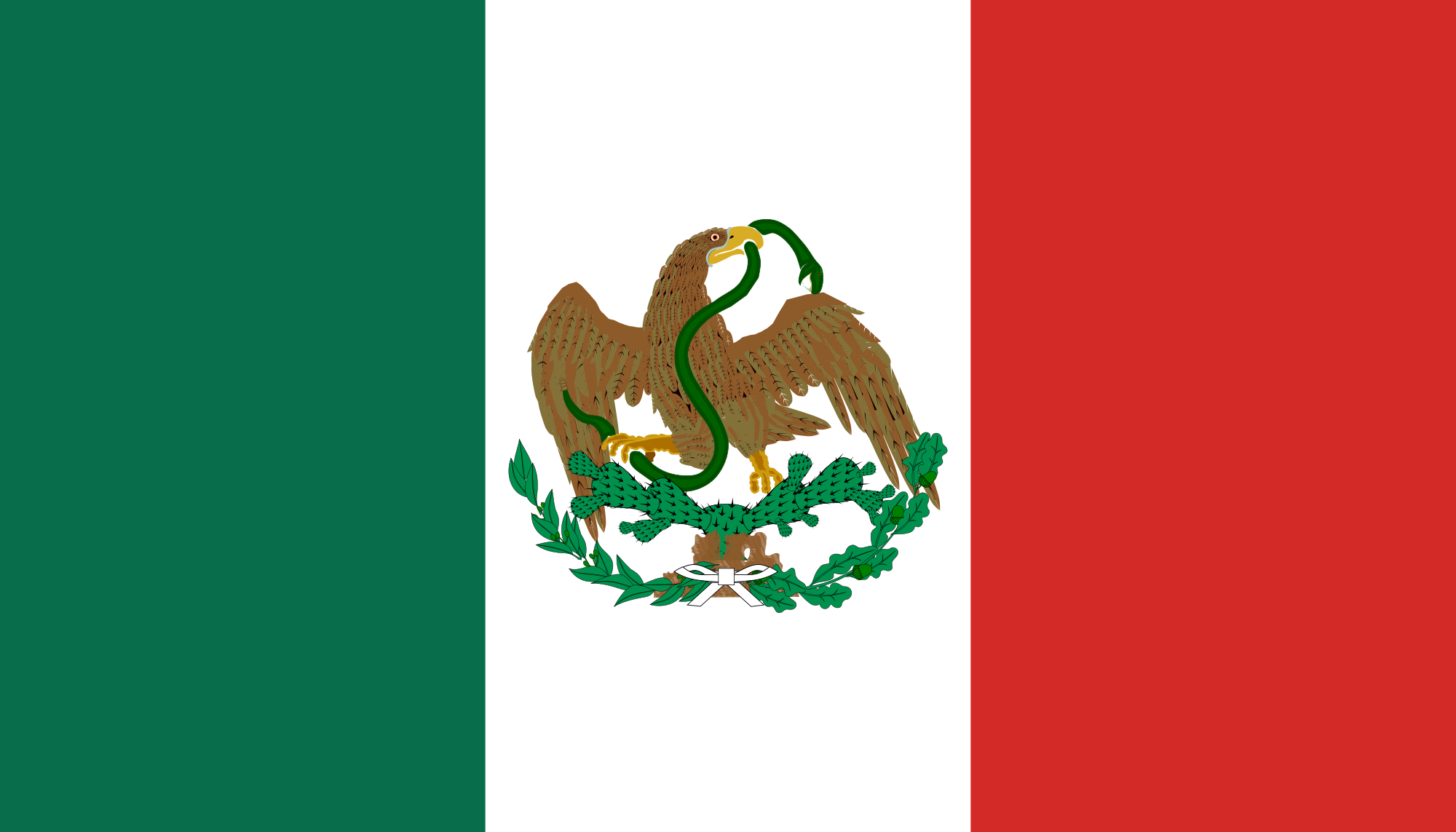 2000x1143 Fileflag Of Mexico (1823 1864, 1867 1893).svg