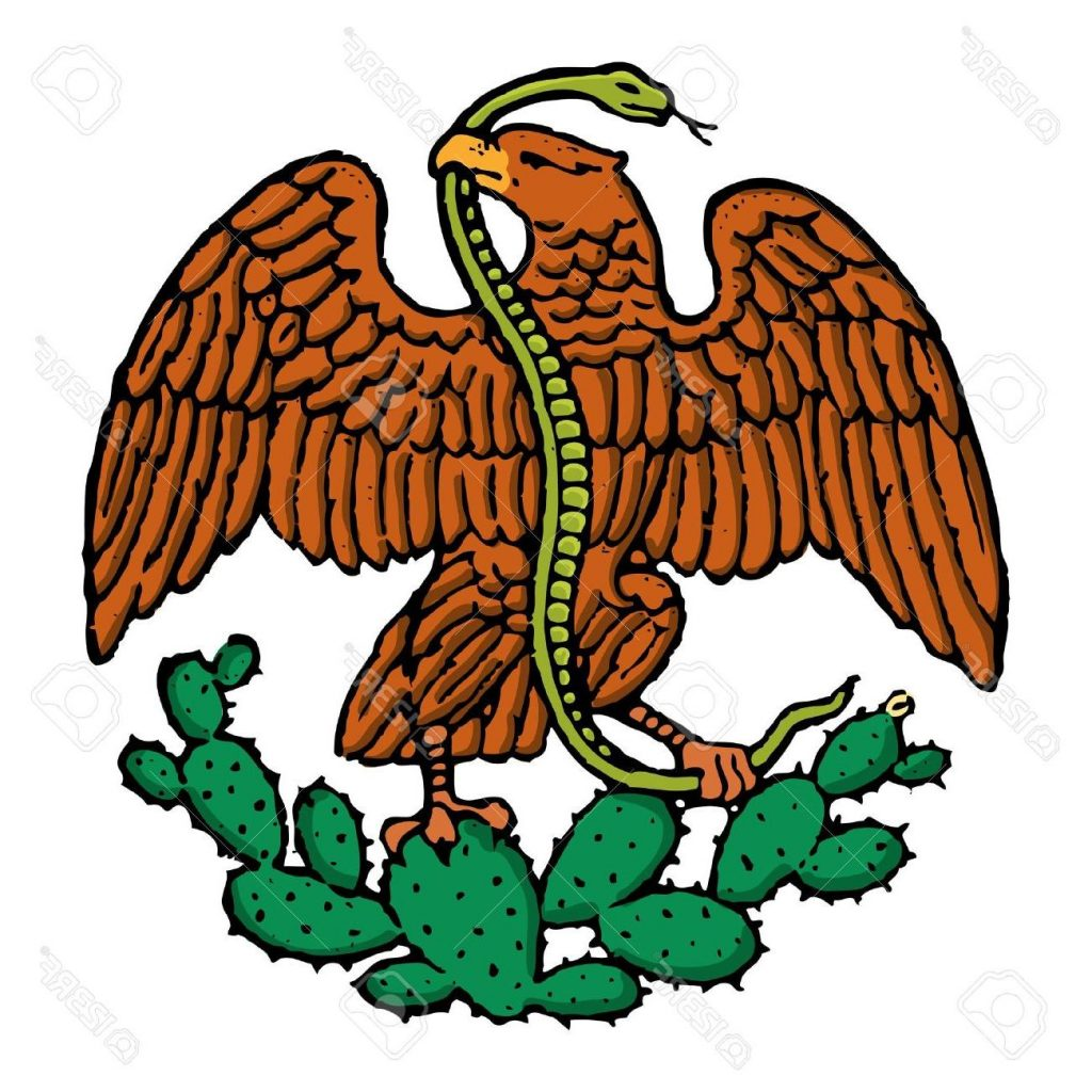 1024x1024 Hd Color Eagle And Snake From Mexican Flag Stock Vector Cdr