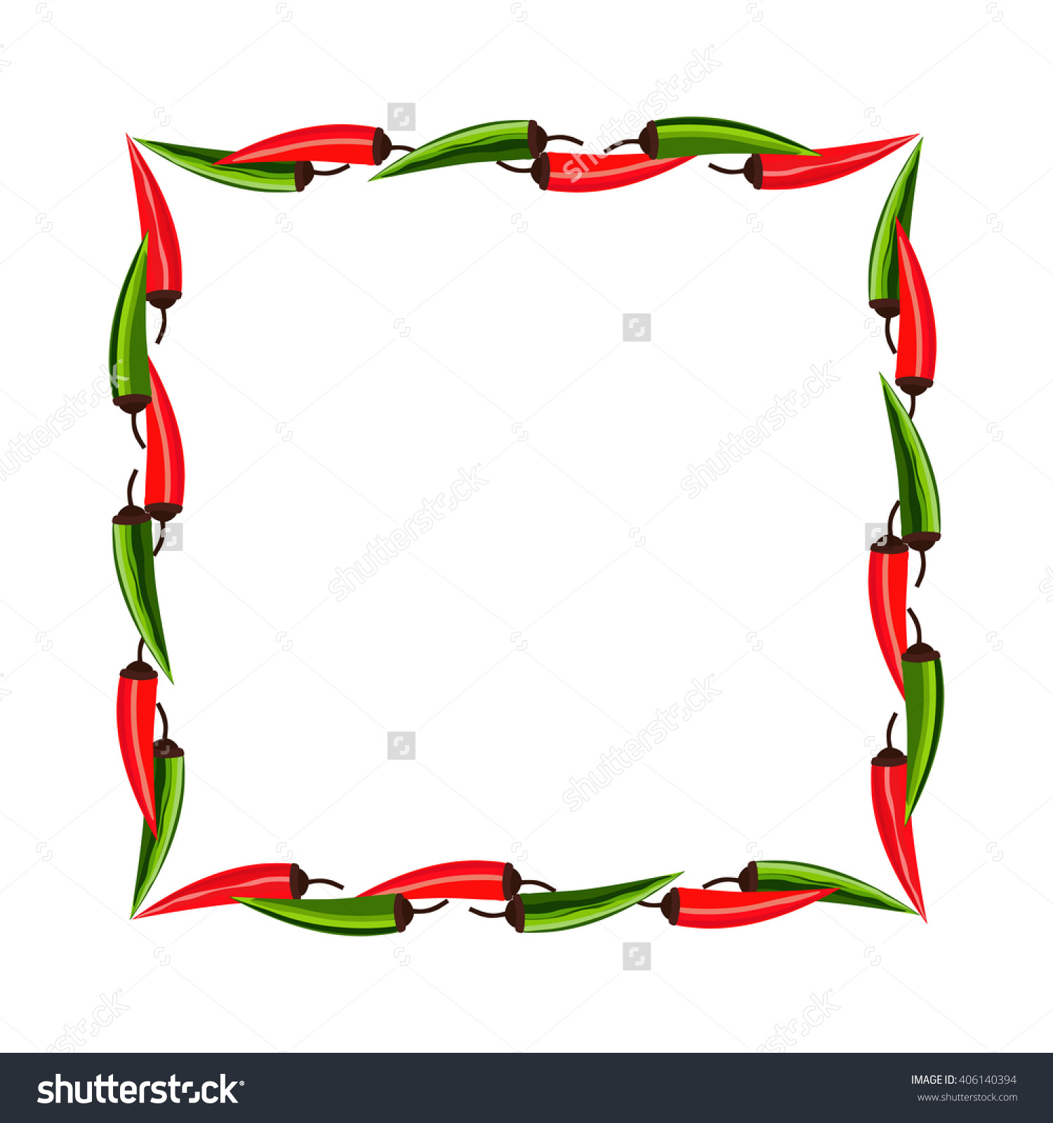 1500x1600 Mexican Food Border Clip Art