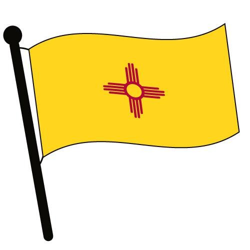 500x500 New Mexico Waving Flag Clip Art