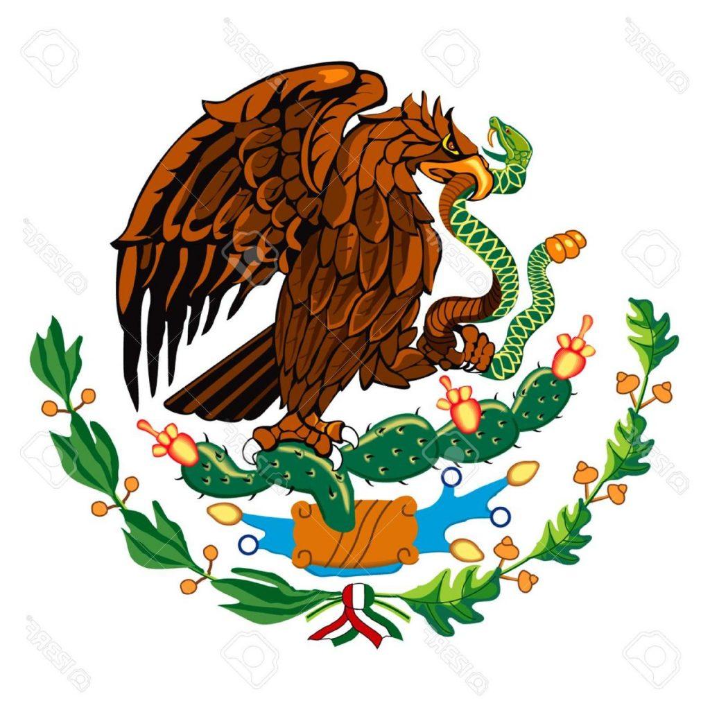 1024x1024 Unique Mexican Flag Symbol Stock Vector Photos