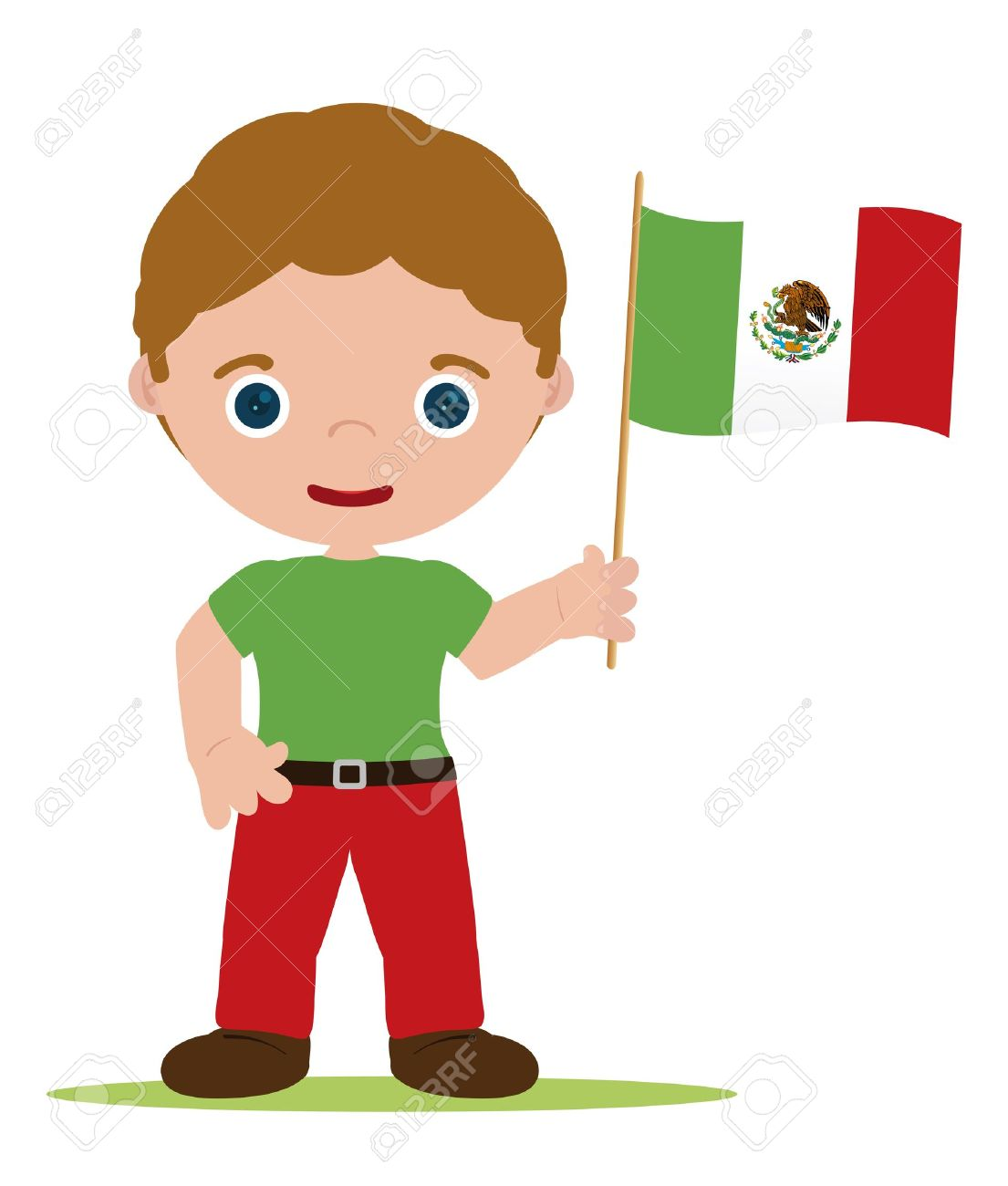 1105x1300 Man From Mexico With Flag Royalty Free Cliparts, Vectors,