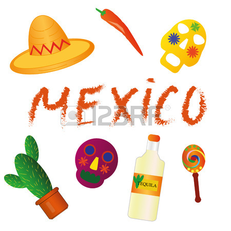 450x450 Mexican Symbols, Icons Of Mexico. Mexican Style Royalty Free