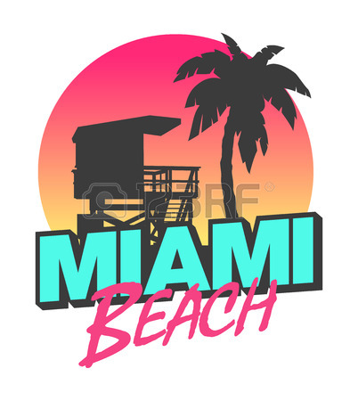 402x450 Miami Beach Royalty Free Cliparts, Vectors, And Stock Illustration