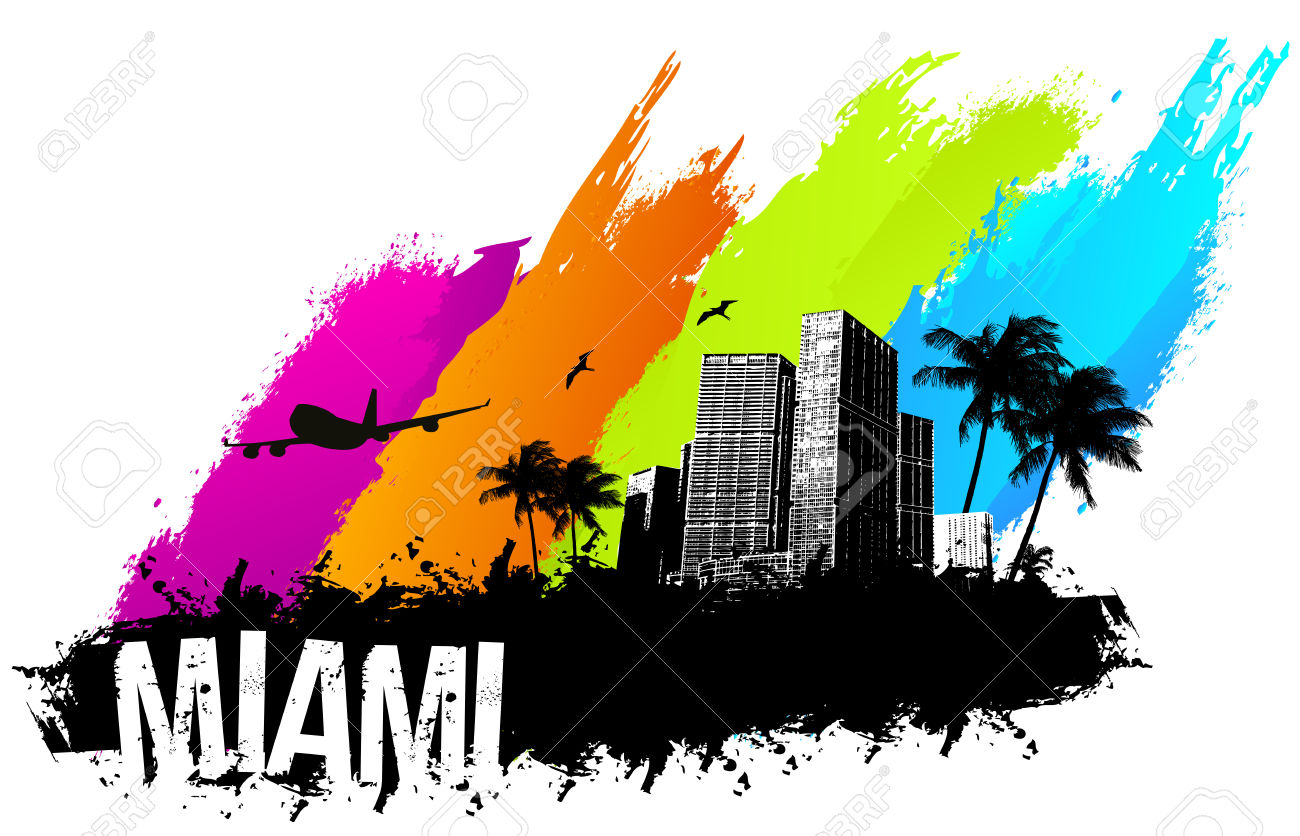 1300x836 Miami Clipart Vector