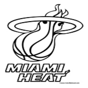 175x175 Miami Heat Coloring Page (Nba Teams Coloring Pages) Intentional