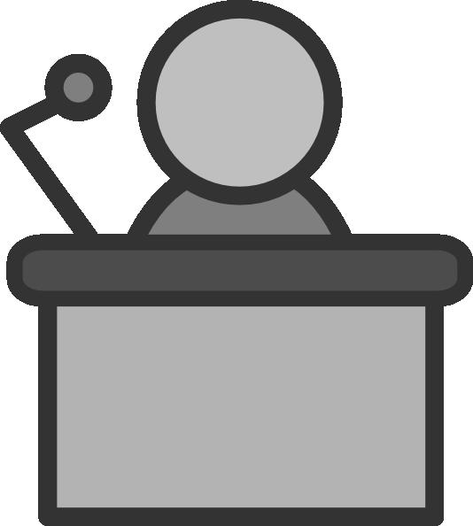 534x594 Speaker Podium Mic Clip Art