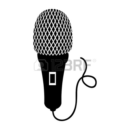 450x450 Microphone Cord Mic Button Audio Mike Sound Vector Illustration
