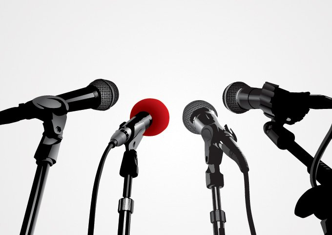 680x481 Press Conference Microphone Vector Graphics (Free), Vector Files
