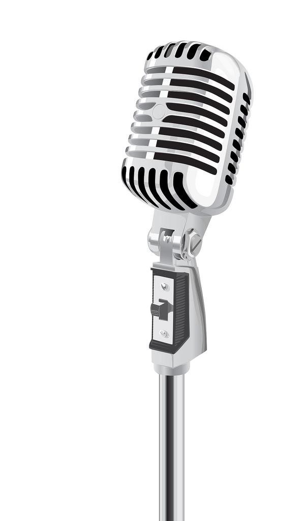 602x1024 Retro Microphone Vector