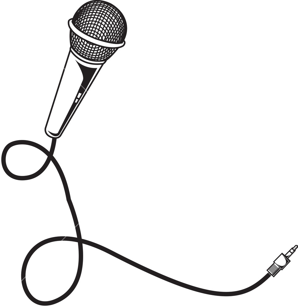 971x1000 Vector Microphone Royalty Free Stock Image