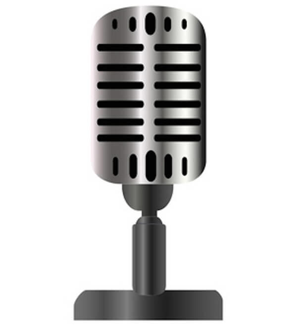 600x660 Vintage Microphone Vector Image 123freevectors