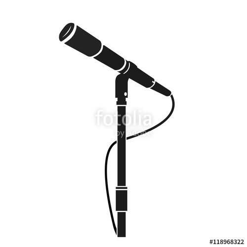500x500 A Vector Illustration Of A Stage Microphone Silhouette Icon
