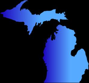 297x276 Michigan Map Blue Blend Clip Art