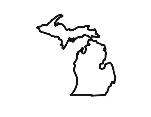 500x386 Michigan Outline Clipart