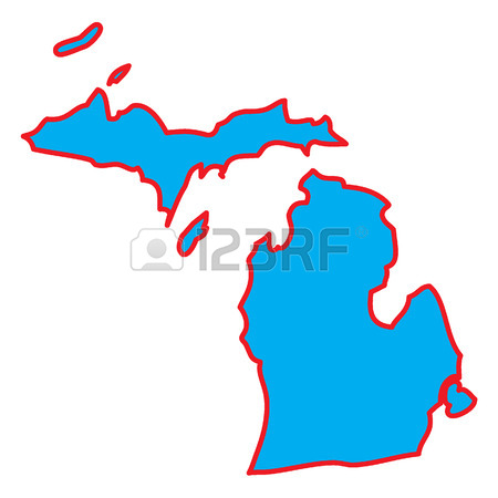 450x450 461 Michigan Art Stock Vector Illustration And Royalty Free