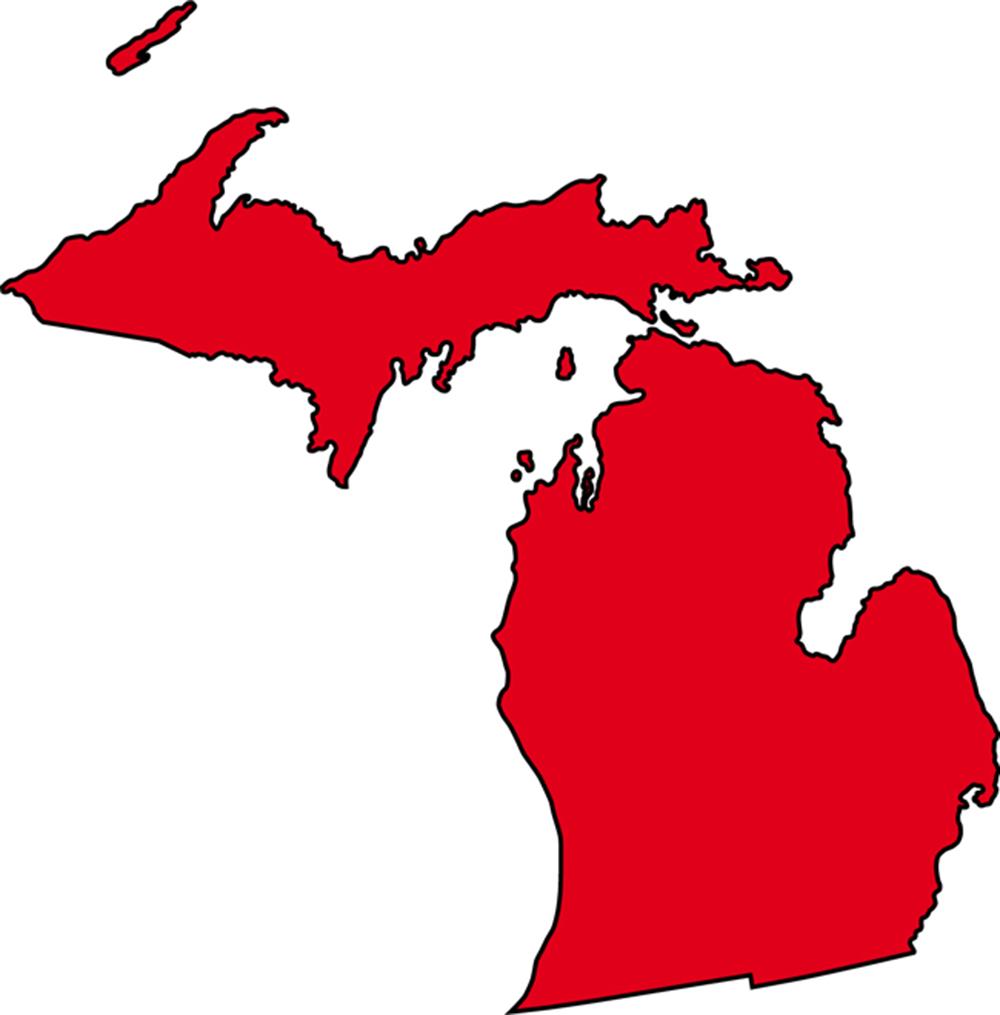1000x1015 Michigan Clipart Michigan Outline