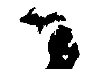 340x270 Michigan Svg Dxf Jpeg Png File Stencil Monogram Frame Silhouette