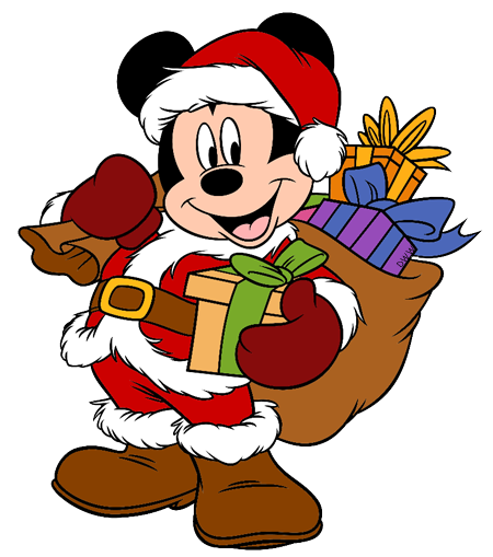 450x509 Mickey Mouse Clipart Santa