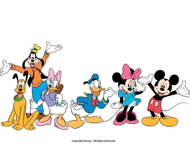 792x612 Mickey Mouse And Friends Clipart