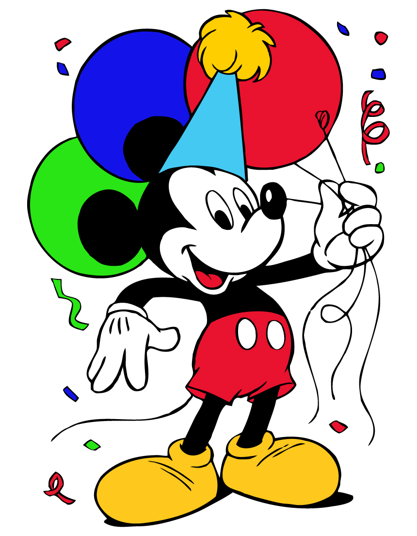 Mickey Birthday Clipart